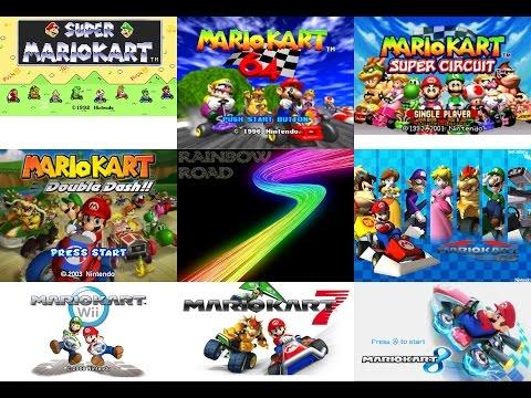 Mario Kart - All Rainbow Road Themes