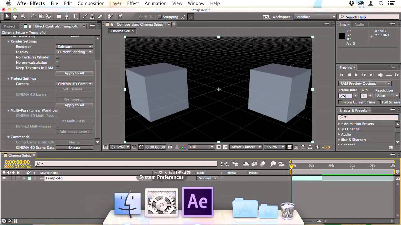 From Cinema 4D to After Effects: A Professional Workflow: Setting Up The Workflow