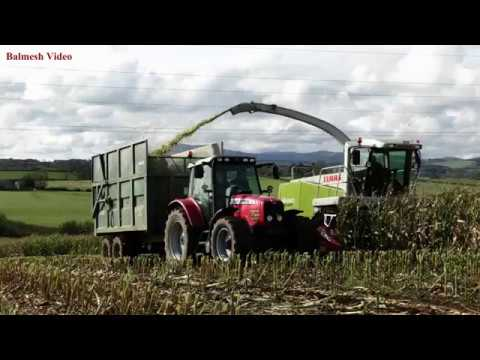 Maize '17 - Claas 890 on the Hill. Massey, Fendt, New Holland Action.