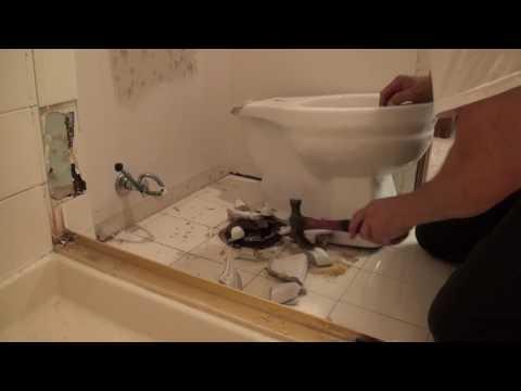 Shower demolition. Bathroom Remodeling. Part 1.