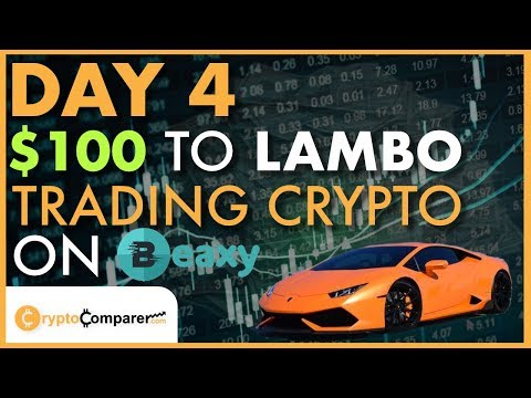 Day 4 - $100 To Lambo Cryptocurrency Trading Challenge On Beaxy