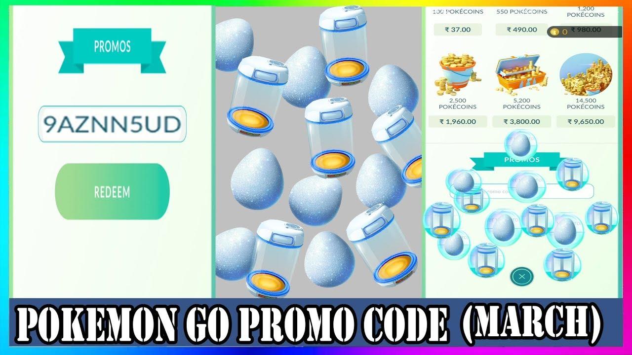 Pokemon Go Promo Code 2019 March   Pokemon Go Wiki