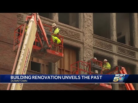 Renovation of downtown Cincinnati building unveils hidden beauty concealed for decades