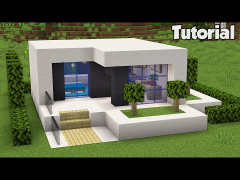 Minecraft: How to Build a Small Modern House Tutorial (Easy)