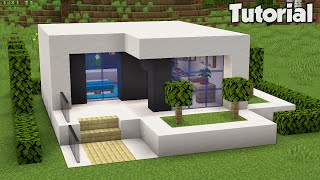 Minecraft: How to Build a Small Modern House Tutorial (Easy) #31