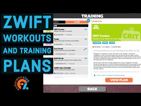 How to select Zwift Workouts and Training Plans
