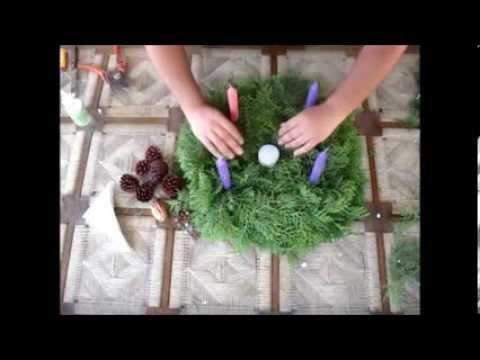 Corona de adviento manualidades navidad youtube - Como decorar la corona de adviento ...