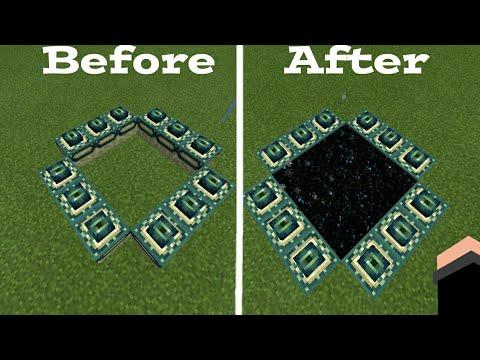Cara Mengatasi Kesalahan Dalam Membuat Portal naga di Minecraft Pe