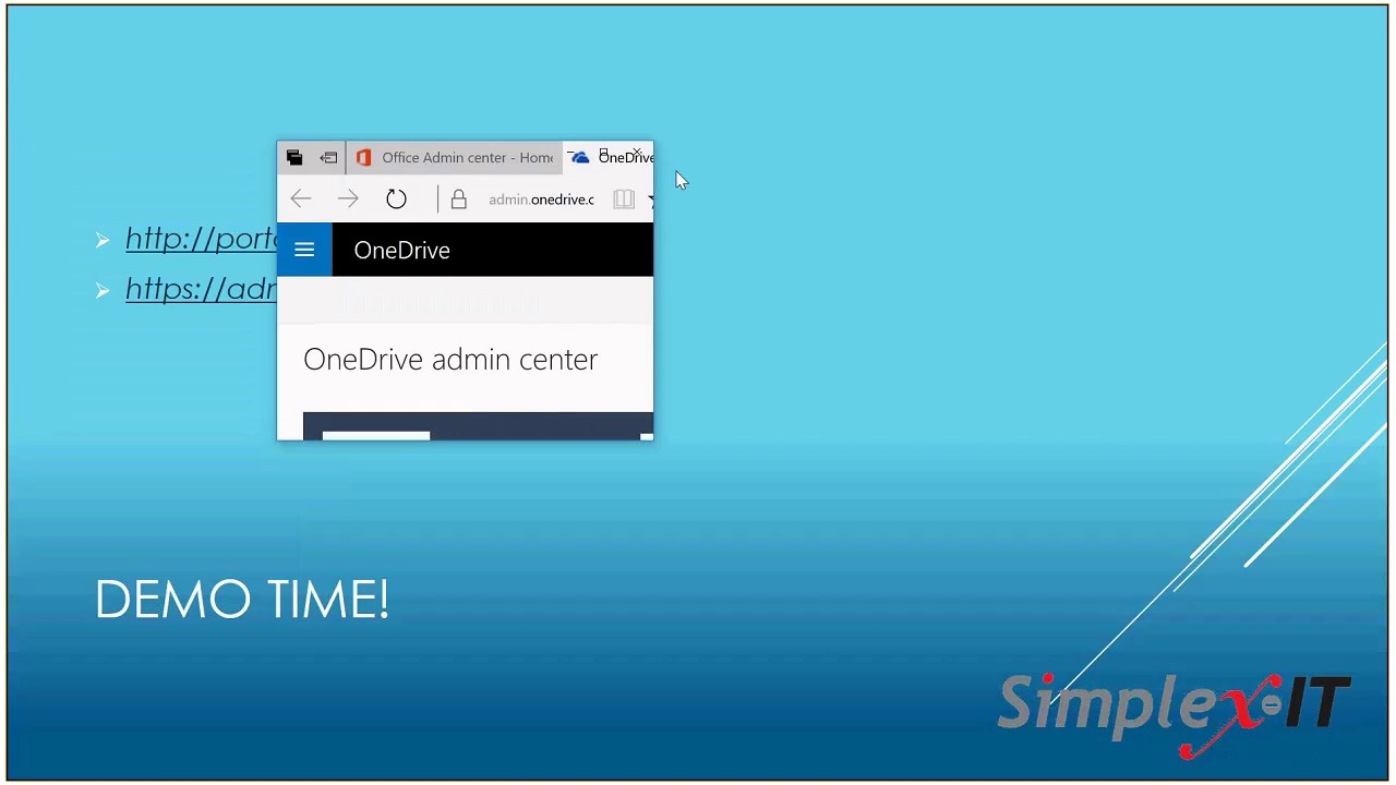 OneDrive for Business Administration Portal