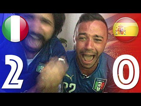 ITALIA 2 - 0 SPAGNA | CHIELLINI-PELLE' GOL LIVE HD