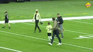 Tom Brady catches up with Drew Brees and throws to his kids, after Saints QBs last (maybe) game