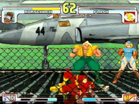 Mugen Fights: Rorschach Vs. Flash