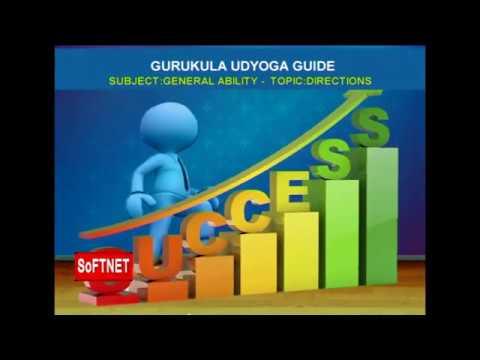 GURUKULAM     Mental Ability  - Directions      Prashanth Reddy