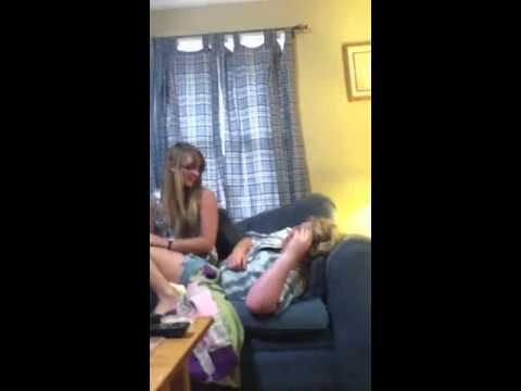 Tiffany sitting on a friend