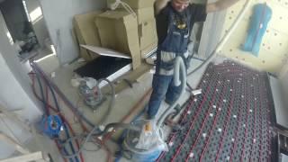 Монтаж водяного теплого пола на втором этаже