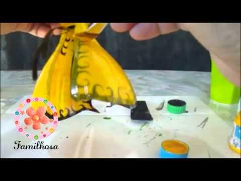 Como Pintar Borboletas Recicladas De Garrafas Pet Youtube
