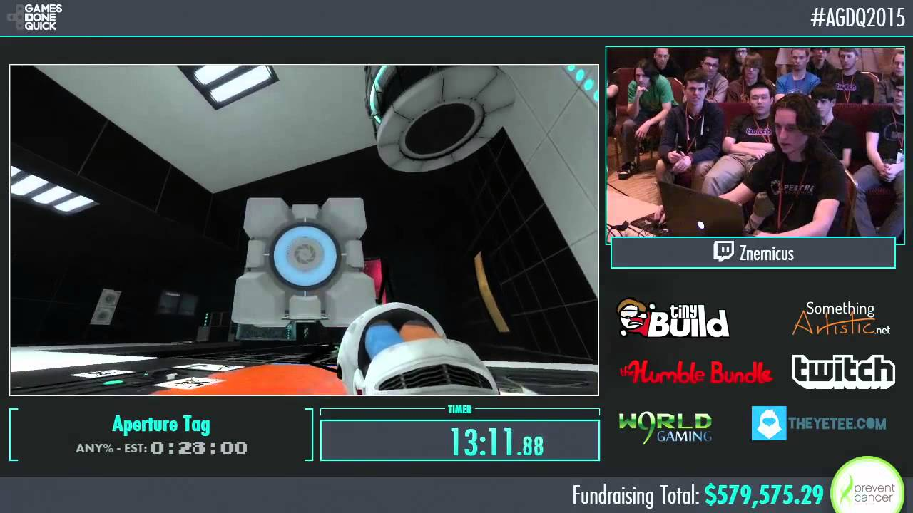 Awesome Games Done Quick 2015 Part 141 Aperture Tag By
