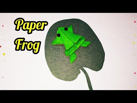 Paper Frog   ORIGAMI FROG (Traditional model)   Easy Origami   sweety trendzzz