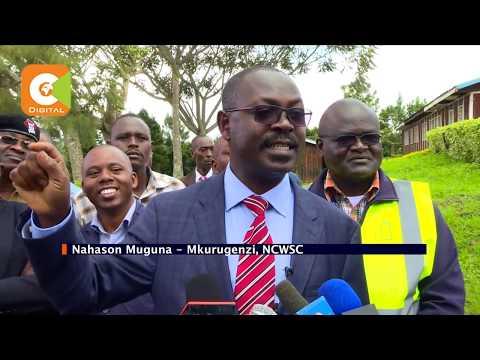 Mito inayopeleka maji katika Bwawa la Ndakaini imekauka