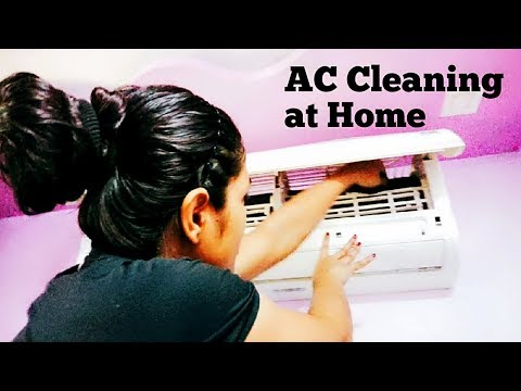How to cleaning & servicing Air Conditioner AC at Home - AC Cleaning -AC Servicing