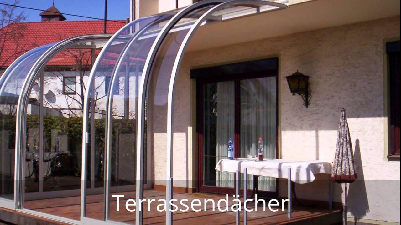 Terrassendach, Wintergarten Überdachung von Terrassen-Dach.org - YouTube
