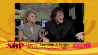 Video Quentin Tarantino & Fergie see The Beatles™ Love™ by Cirque du Soleil® download MP3, 3GP, MP4, WEBM, AVI, FLV Juli 2018