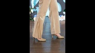 Flared Trouser Cutting and Sewing - Fish Trouser / cutting and stitching of ladies trouser