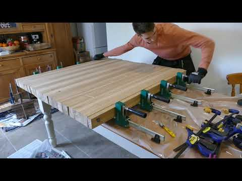 Making a 1sq Meter End Grain Chopping Board from Oak