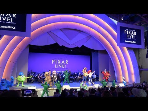 4K The Music of PIXAR LIVE! Concert at Disney Hollywood Studios, Disney World