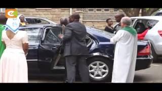 Former President Kibaki attends church service at Consolata Shrine in Nairobi