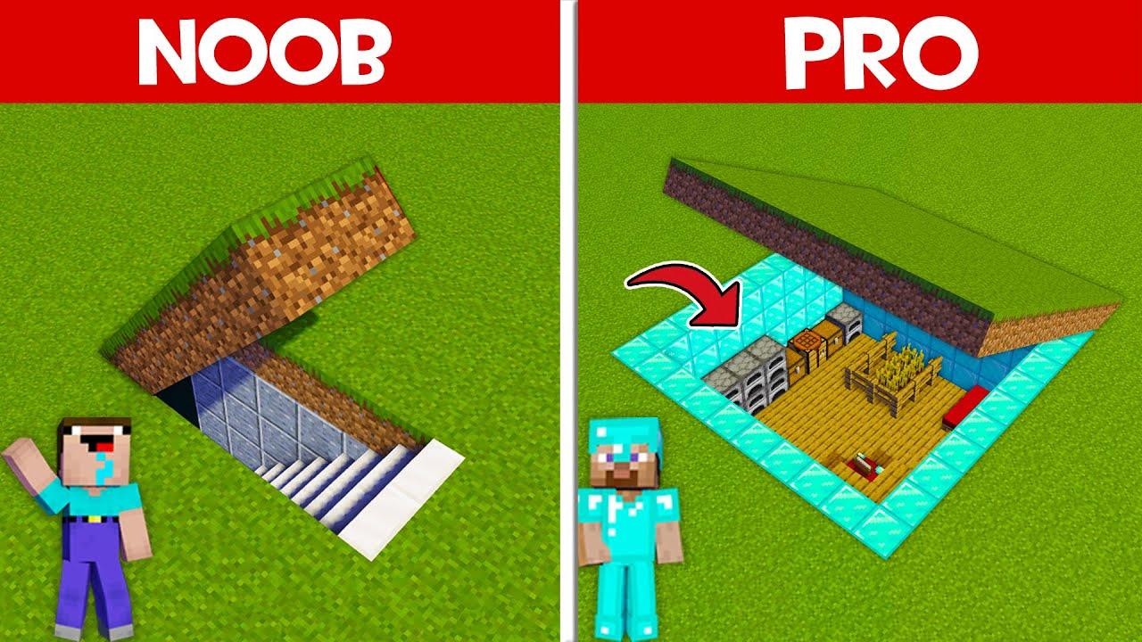 SECRET UNDERGROUND BASE BATTLE! NOOB FOUND SECRET BASE in Minecraft NOOB vs PRO (Animation)