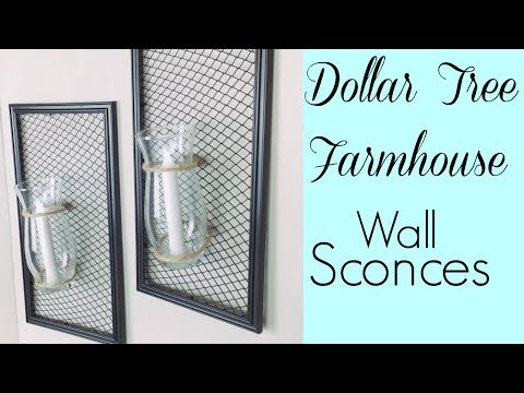 Dollar Tree Farmhouse Wall Sconces | Simple DIY Home Decor