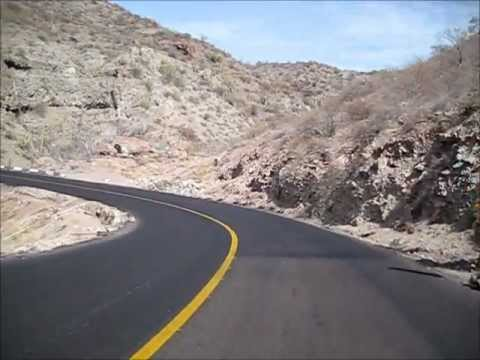 Baja California Sur driving from La Paz to Loreto