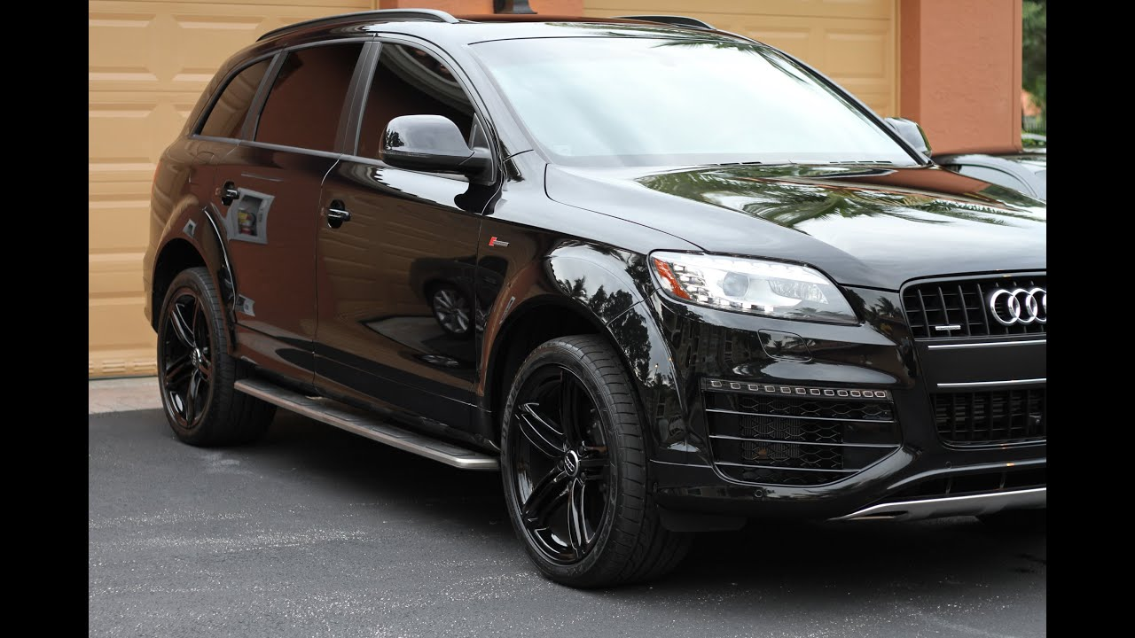 2015 Audi Q7 Sline Black Pack By Advanced Detailing Of South Florida Youtube