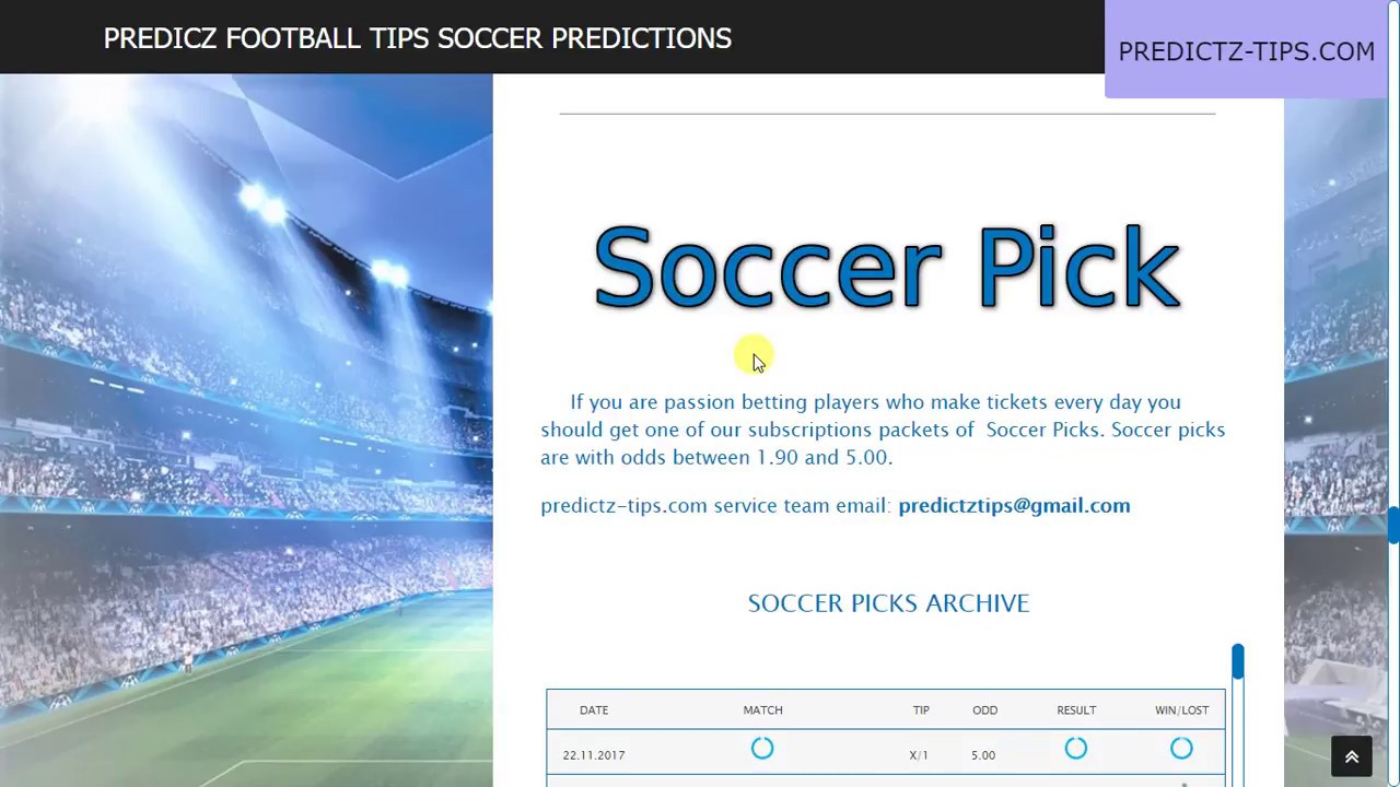 Predicz Football tips Soccer predictions