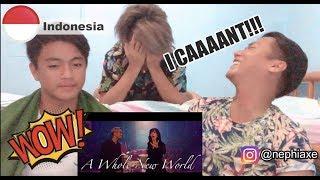 Gamaliél Isyana Sarasvati A Whole New World Indonesia Version REACTION