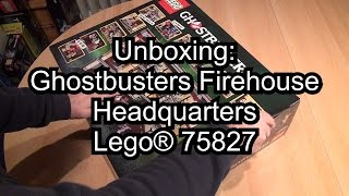 lego ghostbusters firehouse headquarters 75827 unboxing teil 1 des review