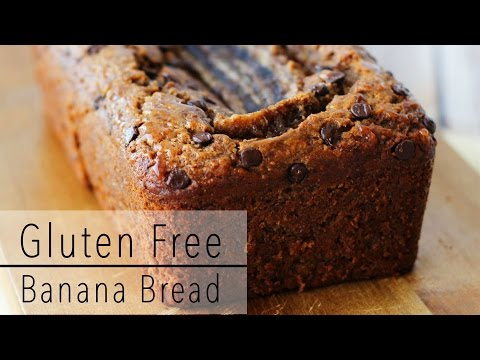 GLUTEN FREE BANANA BREAD Recipe with CHOCOLATE and Almond Butter Healthy & Delicious!