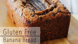 GLUTEN FREE BANANA BREAD Recipe with CHOCOLATE and Almond Butter