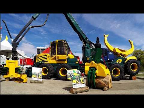 NEW FORESTRY EQUIPMENT SETTING UP FOR 2017 ILA TRADE SHOW (Log Loaders, Skidders, Feller Bunchers)