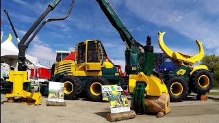 NEW FORESTRY EQUIPMENT SETTING UP FOR 2017 ILA TRADE SHOW (Log Loaders, Skidders, Feller Bunchers)