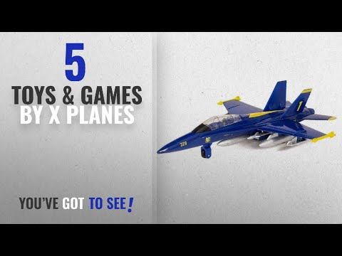 "Top 10 X Planes Toys & Games [2018]: 9"" X-Planes US Navy F-18 Hornet Blue Jet Toy with Pull Back"