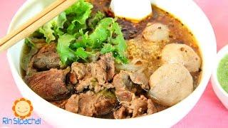 How to make Thai Braised Beef Noodle Soup ก๋วยเตี๋ยวเนื้อตุ๋น (紅燒牛肉河汾)