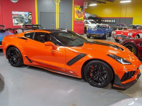 SOLD 2019 Sebring Orange Corvette ZR1 Coupe With 820 Miles For Sale By COrvette Mike