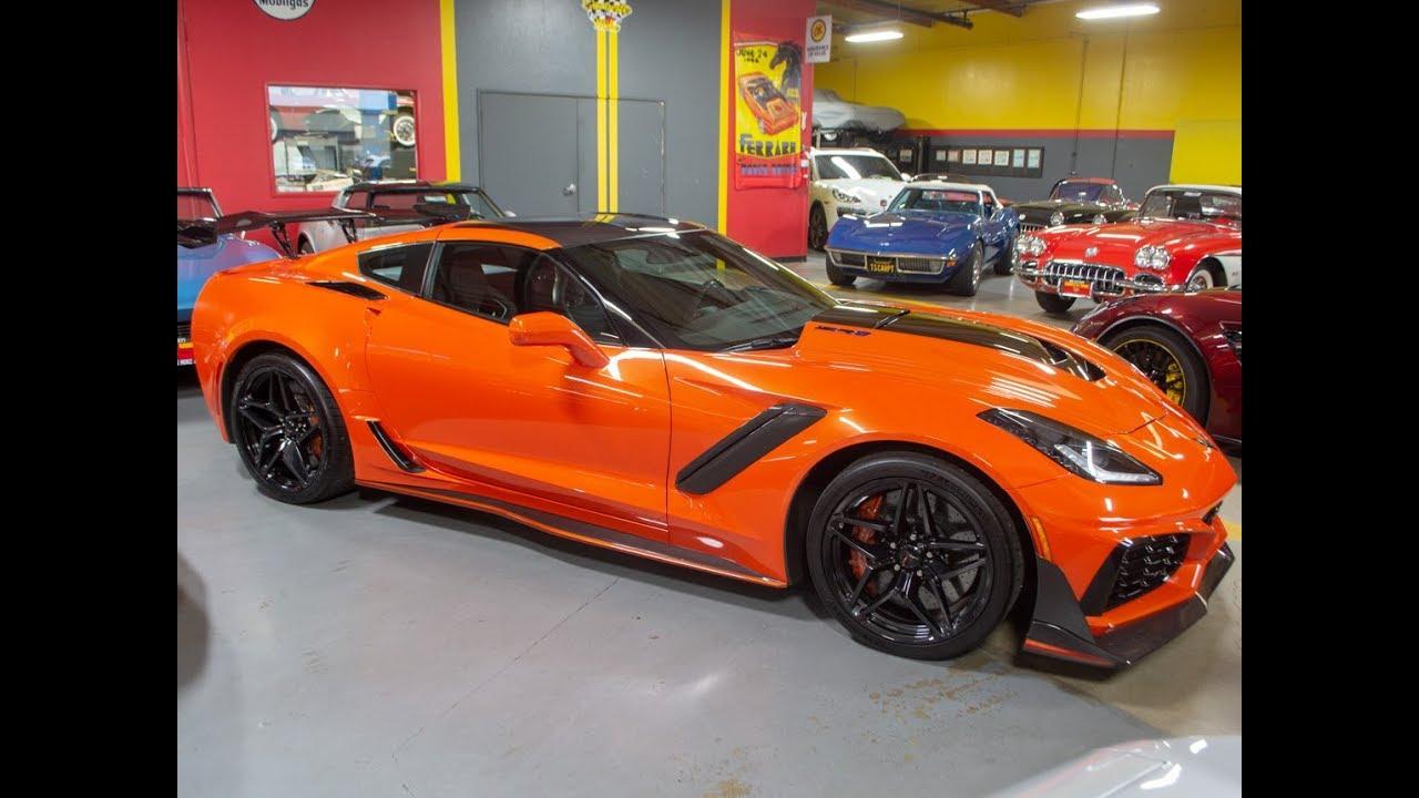 Sold 2019 Sebring Orange Corvette Zr1 Coupe With 820 Miles For Sale By Corvette Mike