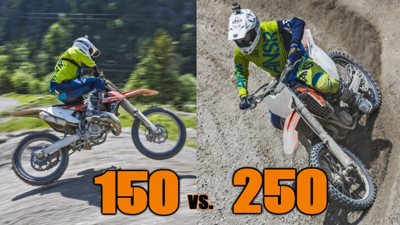 2016 ktm 150 vs 2016 ktm 250 sx-f shootout - youtube