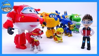 Super wings toys episode. Super wings and Paw Patrol, defeat the villain.