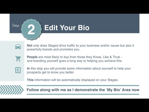 Get Started Step 2 - Edit Your Bio