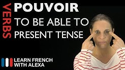 Pouvoir (to be able to) - Present Tense (French verbs conjugated by Learn French With Alexa)