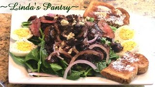 ~spinach Salad With A Warm Vinaigrette ~linda's Pantry~